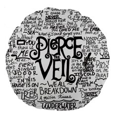 Pierce The Veil Music Band Group Fabric Art Cloth Poster Large 18  Premium Round Cushions by Onesevenart