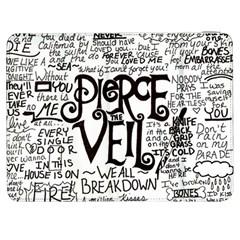 Pierce The Veil Music Band Group Fabric Art Cloth Poster Samsung Galaxy Tab 7  P1000 Flip Case by Onesevenart