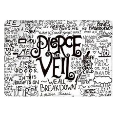 Pierce The Veil Music Band Group Fabric Art Cloth Poster Samsung Galaxy Tab 10 1  P7500 Flip Case by Onesevenart