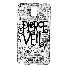 Pierce The Veil Music Band Group Fabric Art Cloth Poster Samsung Galaxy Note 3 N9005 Hardshell Case by Onesevenart