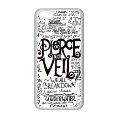 Pierce The Veil Music Band Group Fabric Art Cloth Poster Apple Iphone 5c Seamless Case (white) by Onesevenart