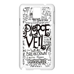 Pierce The Veil Music Band Group Fabric Art Cloth Poster Samsung Galaxy Note 3 N9005 Case (white) by Onesevenart