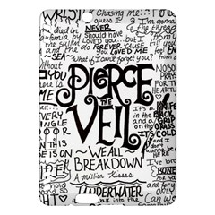 Pierce The Veil Music Band Group Fabric Art Cloth Poster Kindle Fire Hdx Hardshell Case by Onesevenart