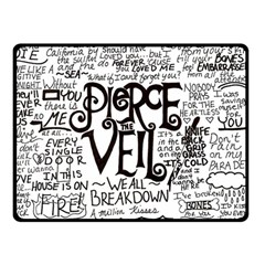 Pierce The Veil Music Band Group Fabric Art Cloth Poster Double Sided Fleece Blanket (small)  by Onesevenart