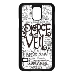 Pierce The Veil Music Band Group Fabric Art Cloth Poster Samsung Galaxy S5 Case (black) by Onesevenart