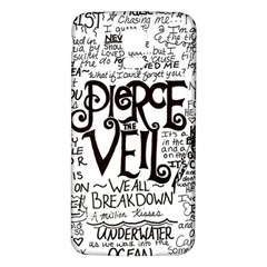 Pierce The Veil Music Band Group Fabric Art Cloth Poster Samsung Galaxy S5 Back Case (white) by Onesevenart