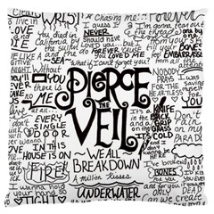 Pierce The Veil Music Band Group Fabric Art Cloth Poster Large Flano Cushion Case (two Sides) by Onesevenart
