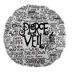 Pierce The Veil Music Band Group Fabric Art Cloth Poster Large 18  Premium Flano Round Cushions by Onesevenart