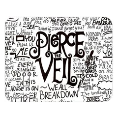 Pierce The Veil Music Band Group Fabric Art Cloth Poster Double Sided Flano Blanket (large)  by Onesevenart
