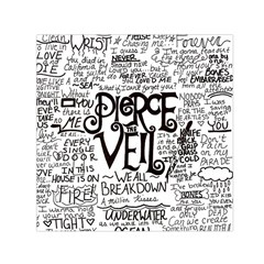 Pierce The Veil Music Band Group Fabric Art Cloth Poster Small Satin Scarf (square) by Onesevenart