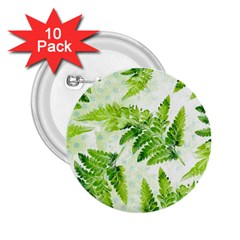 Fern Leaves 2 25  Buttons (10 Pack)  by DanaeStudio