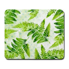 Fern Leaves Large Mousepads by DanaeStudio