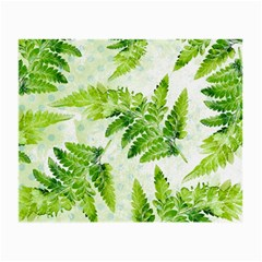 Fern Leaves Small Glasses Cloth (2 Side) by DanaeStudio
