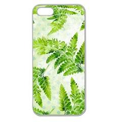 Fern Leaves Apple Seamless Iphone 5 Case (clear) by DanaeStudio