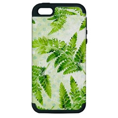 Fern Leaves Apple Iphone 5 Hardshell Case (pc+silicone) by DanaeStudio