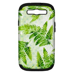 Fern Leaves Samsung Galaxy S Iii Hardshell Case (pc+silicone) by DanaeStudio