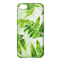Fern Leaves Apple Iphone 5c Hardshell Case by DanaeStudio