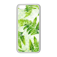 Fern Leaves Apple Iphone 5c Seamless Case (white) by DanaeStudio