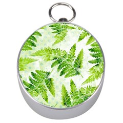 Fern Leaves Silver Compasses by DanaeStudio