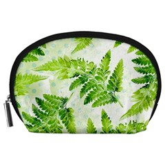 Fern Leaves Accessory Pouches (large)  by DanaeStudio