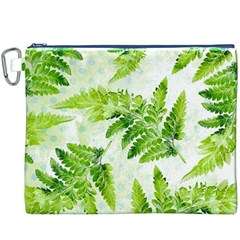 Fern Leaves Canvas Cosmetic Bag (xxxl) by DanaeStudio