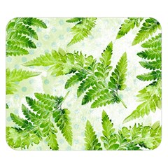Fern Leaves Double Sided Flano Blanket (small)  by DanaeStudio