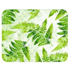 Fern Leaves Double Sided Flano Blanket (medium)  by DanaeStudio