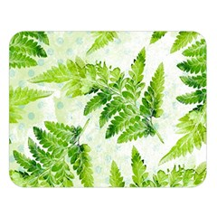 Fern Leaves Double Sided Flano Blanket (large)  by DanaeStudio