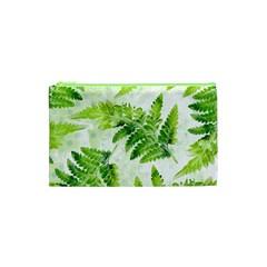 Fern Leaves Cosmetic Bag (xs) by DanaeStudio