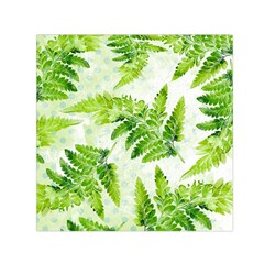 Fern Leaves Small Satin Scarf (Square)  by DanaeStudio
