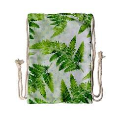 Fern Leaves Drawstring Bag (small) by DanaeStudio
