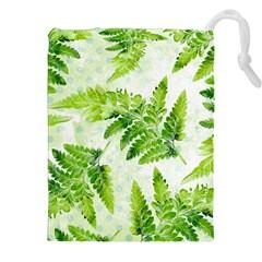 Fern Leaves Drawstring Pouches (xxl) by DanaeStudio
