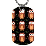 Halloween brown owls  Dog Tag (Two Sides)