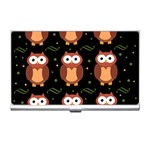 Halloween brown owls  Business Card Holders