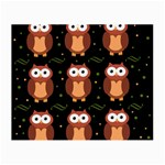 Halloween brown owls  Small Glasses Cloth