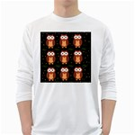 Halloween brown owls  White Long Sleeve T-Shirts