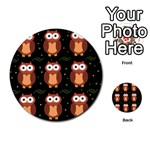 Halloween brown owls  Multi-purpose Cards (Round)