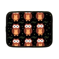 Halloween Brown Owls  Netbook Case (small)  by Valentinaart