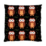 Halloween brown owls  Standard Cushion Case (Two Sides)