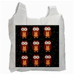 Halloween brown owls  Recycle Bag (One Side)