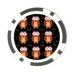 Halloween brown owls  Poker Chip Card Guards (10 pack)