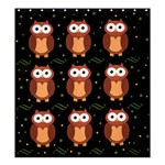 Halloween brown owls  Shower Curtain 66  x 72  (Large)