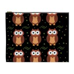 Halloween brown owls  Cosmetic Bag (XL)