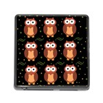 Halloween brown owls  Memory Card Reader (Square)