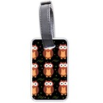 Halloween brown owls  Luggage Tags (One Side)
