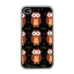 Halloween brown owls  Apple iPhone 4 Case (Clear)