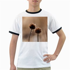Withered Globe Thistle In Autumn Macro Ringer T Shirts by wsfcow