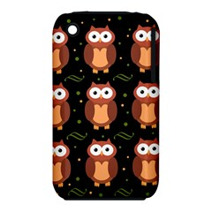 Halloween Brown Owls  Apple Iphone 3g/3gs Hardshell Case (pc+silicone) by Valentinaart