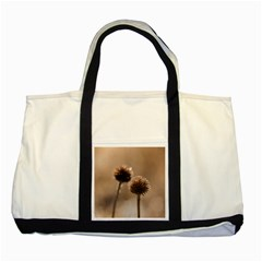 Withered Globe Thistle In Autumn Macro Two Tone Tote Bag by wsfcow