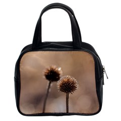 Withered Globe Thistle In Autumn Macro Classic Handbags (2 Sides) by wsfcow
